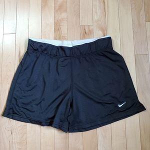 Nike Women's Performance Black & White Shorts SZ M